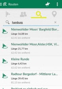 Routenfunktion der Reiter App